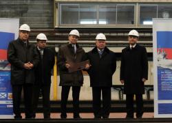 BPC russe : découpe de la première tôle à Saint-Nazaire