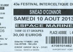 F.I.L. 2013  Sinéad O'Connor et les Spams en conclusion