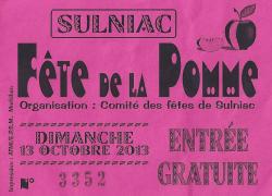 Fête de la pomme 2013 à Sulniac