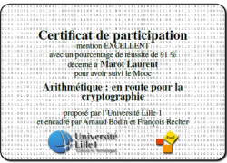 MOOC Canvas Arithmétique, en route vers la cryptographie