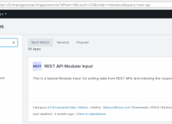 Playing with Splunk and REST API