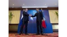 Nicolas Sarkozy et le président russe Dmitry Medvedev à Deauville.