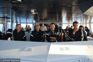 L'équipage de conduite avec le commandant CF(R) Jean-Charle Kerlau