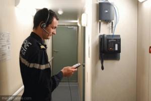 Marin utilisant le système Sysmart