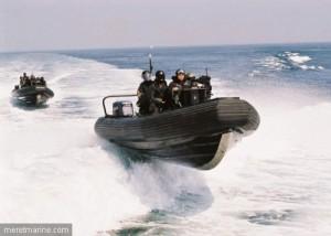Embarcations des commandos marine