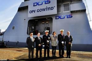 Remise de L'Adroit à la Marine