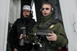 Entrainements à l'appontage depuis la plateforme hélicoptères