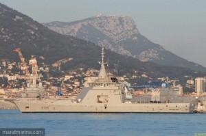 Arrivée de L'Adroit à Toulon