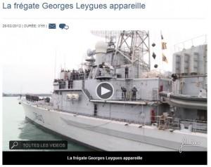 Le Georges Leygues appareille  (cliquer sur l'image pour voir la vidéo)