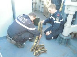 Préparation de bandes de munitions de 12,7 mm