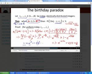Birthday paradox