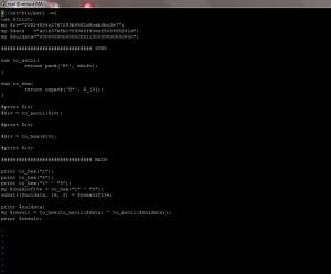 un peu de Perl sous CentoS ?