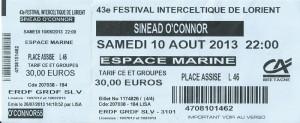 Sinead O'Connor au F.I.L.