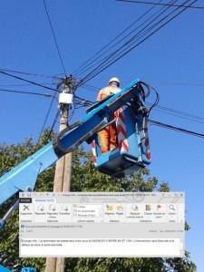 """Intervention """"changement de câble"""""""
