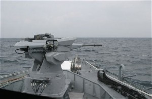Narwal remote-controlled naval gun at BRIDEX_2011