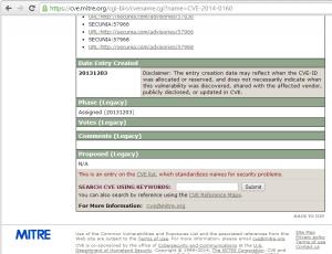 CVE MITRE 2014-0160