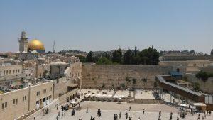 Le Mur des Lamentations et le Dôme du Rocher