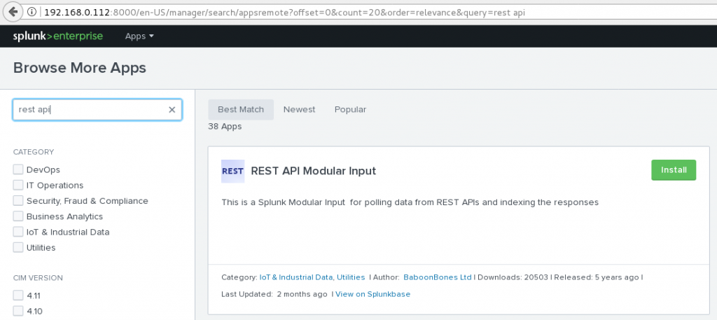 Playing with Splunk and REST API | blog2Lau